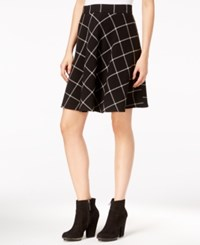Maison Jules Windowpane A Line Skirt Only At Macy's Black Combo