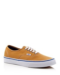 Vans Authentic Lace Up Sneakers Amber Gold