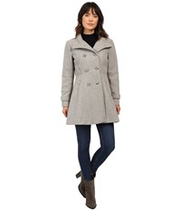 Jessica Simpson Military Double Breasted Braided Wool Grey Women's Coat Gray