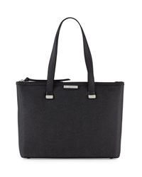 Charles Jourdan Owen Saffiano Leather Tote Bag Black