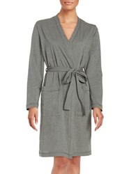 Lord And Taylor Heathered Robe Heather Grey