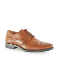 Topman Selected Homme Tan Leather Brogues Brown
