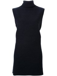 Dion Lee Sleeveless Turtleneck Sweater Black