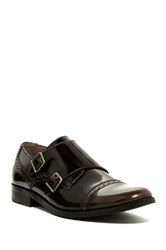 Original Penguin Monk Strap Cap Toe Shoe Brown