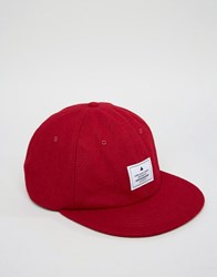 Asos Vintage Baseball Cap In Burgundy Burgundy Red