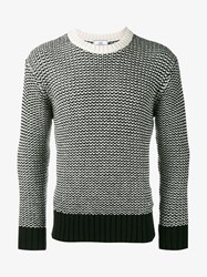 Ami Alexandre Mattiussi Wool Blend Knitted Sweater Black White