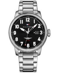 Tommy Hilfiger Men's Casual Sport Stainless Steel Bracelet Watch 42Mm 1791312 Silver
