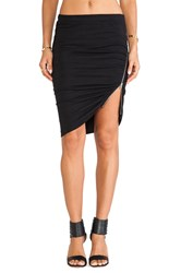 Pam And Gela Side Ruched Zip Skirt Black