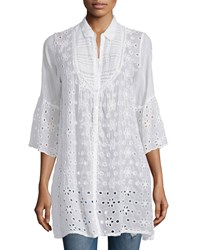 Johnny Was Isabelle Eyelet Button Front Tunic Women's