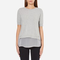 Boss Orange Women's Texplora Layered Top Grey