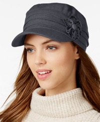 Collection Xiix Studded Flower Military Cap Frost Grey