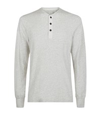 Rag And Bone Long Sleeve Henley T Shirt Male White