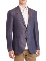 Luciano Barbera Two Button Blazer Blue
