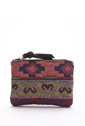 Forever 21 Southwestern Pattern Coin Purse Red Multi