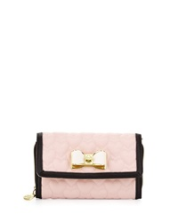 Betsey Johnson Be My Bow Wallet On A Chain Blush