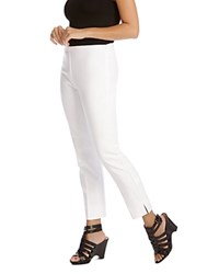 Karen Kane Straight Leg Ankle Pants White