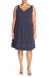 Plus Size Women's Taylor Dresses Pique Knit Fit And Flare Dress