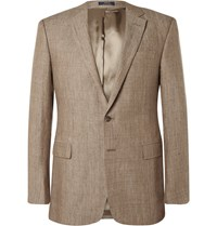 Polo Ralph Lauren Brown Slim Fit Linen Blazer Brown