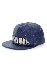 Moschino Women's 'Shadow' Leather Baseball Cap
