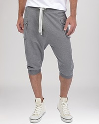 2Xist 2 X Ist Cargo Pocket Capri Sweatpants Medium Grey Heather