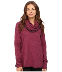 Free People Cocoon Cowl Pullover Wine Women's Long Sleeve Pullover Burgundy