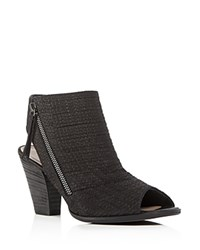 Paul Green Alexandra Open Toe High Heel Booties Black