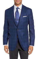 David Donahue Men's 'Aiden' Classic Fit Windowpane Wool Sport Coat