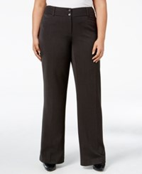 Alfani Plus Size Curvy Fit Slimming Bootcut Pants Only At Macy's Charcoal