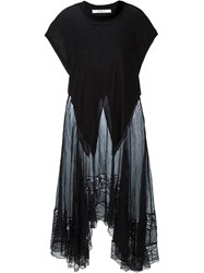 Givenchy Lace Panel Oversized Top Black