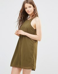 Jdy Racer Back Dress In Olive Dark Olive Green