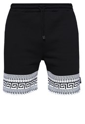 Jaded London Greek Key Tracksuit Bottoms Black