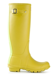 Hunter 'Wellington' Rain Boots Yellow And Orange