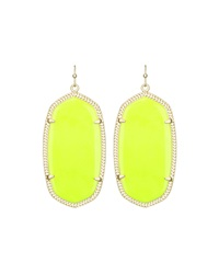 Kendra Scott Danielle Oblong Earrings Neon Yellow Magnesite