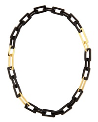 Horn And Gold Plated Medium Link Necklace 32' Maiyet