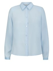 Eastex Contrast Tipped Blouse Blue