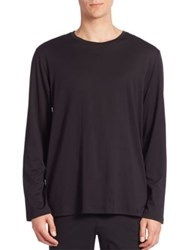 Hanro Solid Long Sleeve Tee Black
