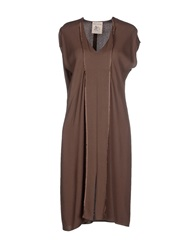 Semi Couture Knee Length Dresses Dark Brown