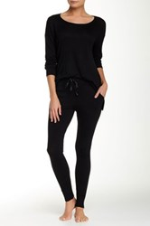 Shimera Solid Knit Legging Black