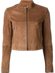 Theory Lambskin Zip Jacket Nude And Neutrals