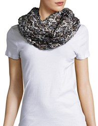 Steve Madden Knit Loop Scarf Ivory