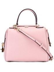 Dolce And Gabbana Mini 'Miss Sicily' Bowler Tote Pink And Purple