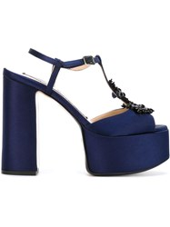 No21 Embellished Platform Sandals Blue