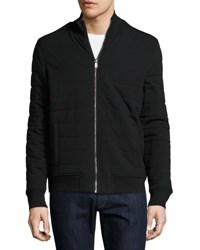 Michael Kors Quilted Puffer Zip Front Jacket Black
