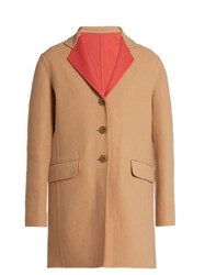 Etro Double Faced Wool Coat Beige