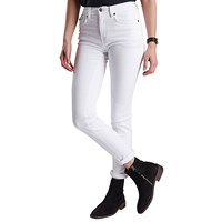 Barbour International Hairpin Skinny Jeans White
