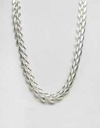 Pilgrim Silver Plated Chevron Necklace Silver Plated