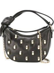 Borbonese Studded Shoulder Bag Black