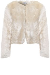 Alice And You Fur Coat Beige