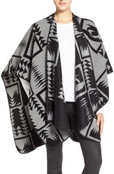Women's Velvet By Graham And Spencer Geo Pattern Poncho