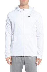 Nike Men's 'Hyperlite B Ball' Dri Fit Zip Hoodie White White Iridescent